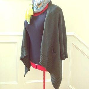 Gap draped cardigan w cashmere